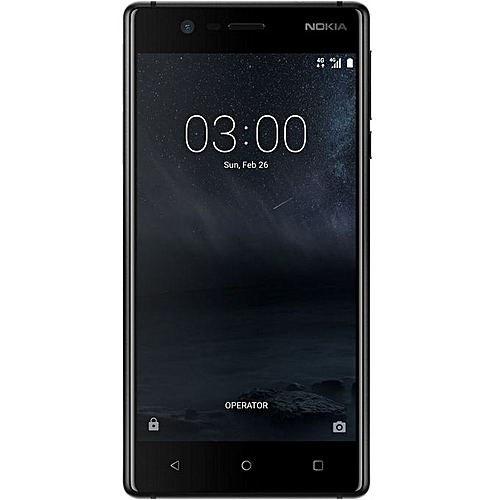 3 5-Inch IPS (2GB, 16GB ROM) Android 7.0 Nougat, 8MP + 8MP Dual SIM LTE Smartphone - Matte Black