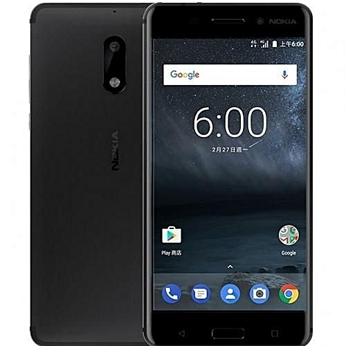 6 5.5-Inch IPS (3GB, 32GB ROM) Android 7.1 Nougat, 16MP + 8MP Hybrid Dual SIM LTE Smartphone - Black