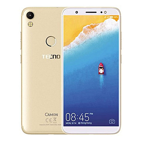 Camon CM-5.7inch HD,Android 7.0,(4GLTE),Daul Nano Sim,13mp Front And 13mp Back Camera, 2GB RAM+16GB ROM,Battery 3000mAh-Champagne GOLD