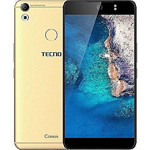 Camon CX 5.5-Inch IPS (2GB, 16GB ROM) Android 7.0, 16MP + 16MP Dual SIM 4G Smartphone - LUXURIOUS GOLD