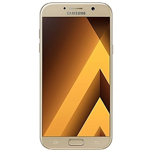Galaxy A7 (2017) 5.7-Inch (3GB, 32GB ROM) Android 6.0, 16MP + 16MP Dual SIM - Gold Sand