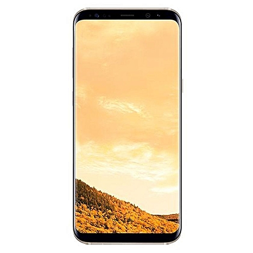 Galaxy S8 5.8-Inch QHD (4GB,64GB ROM) Android 7.0 Nougat, 12MP + 8MP Dual SIM LTE Smartphone - Maple Gold