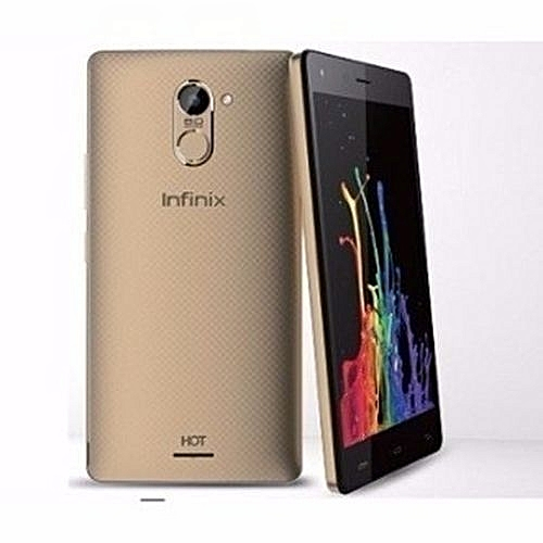 Hot 4 Pro (X556) 5.5-Inch HD (2GB RAM, 16GB ROM) Android Marshmallow, 13MP + 5MP Dual SIM 4G Smartphone - Champagne Gold