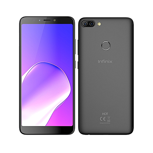 Hot 6 Pro (X608) , Dual SIM 4GLTE ( 16GB ROM / 2GB RAM ) 6- Inches Infinity Display , Android 8.0 Oreo , Face Unlock , ( 13MP + 2MP ) + 5MP Smartphone - Sandstone Black