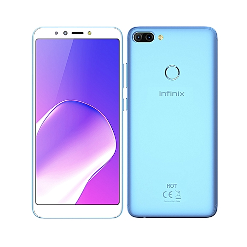 "Hot 6 Pro(x608)-dual Sim,6"" Ips Lcd Display, 16gb Rom + 2gb Ram, 13mp/2mp Rear + 5mp Front Camera,4g Lte,face Id, 4000mah Battery, City Blue"