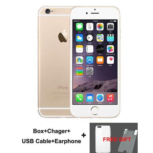 IPhone 6 Plus 5.5 Inch 1GB + 16GB 8MP + 1.2MP Finger Sensor 4G LTE Smartphone ( Free Gift) – Gold