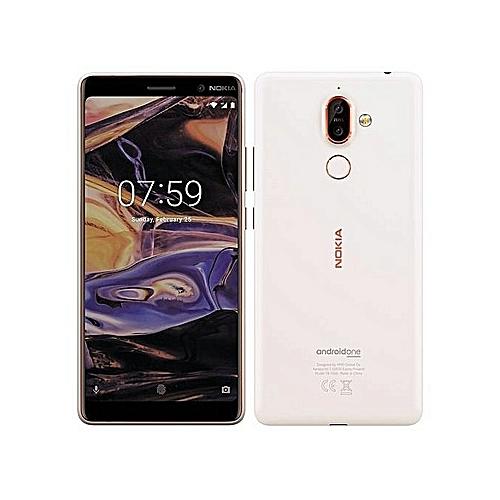Nokia 7 Plus 6-Inch IPS LCD (4GB, 64GB ROM) Android 8.0 Oreo, Dual (12MP + 13MP) + 16MP Dual SIM 4G Smartphone - White