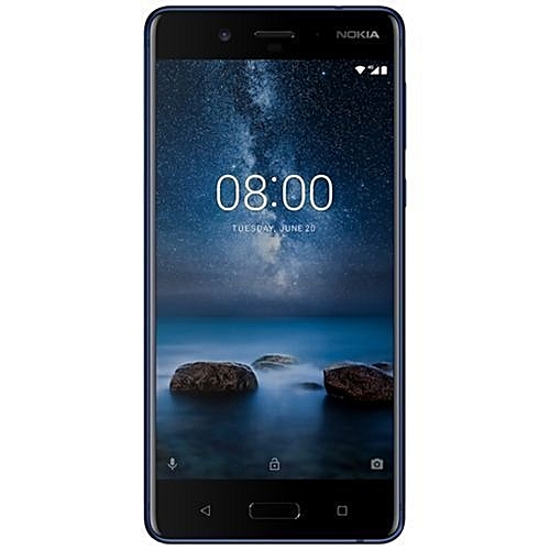 Nokia 8 5.3-Inch (4GB,64GB ROM) Dual 13MP + 13MP, Android 7.1 Nougat Dual SIM 4G Smartphone - Polished Blue