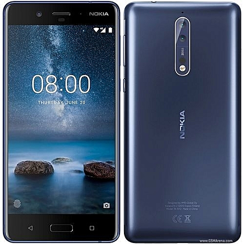 Nokia 8 5.3-Inch (4GB,64GB ROM) Dual 13MP + 13MP, Android 7.1 Nougat Dual SIM 4G Smartphone - BLUE