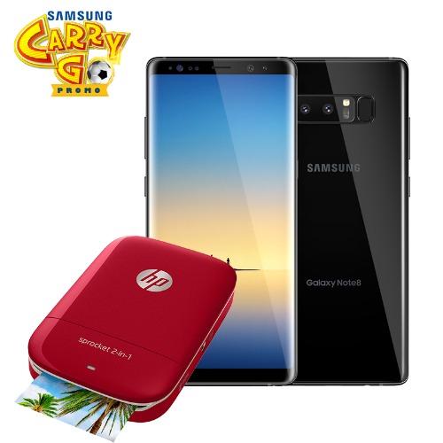 Samsung Galaxy Note 8 6.3-inch Qhd (6gb,64gb Rom) 12mp + 8mp - Black + Free Sprocket