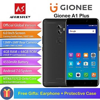 A1 Plus 6.0-inch (4GB RAM, 64GB ROM) 4550mAh, Android 7.0, Helio P25 MTK6757CD 2.6GHz Octa Core, Dual Camera, Corning Gorilla...
