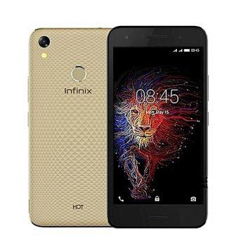 Hot 5 (X559c) 5.5-Inch HD (2GB, 16GB ROM) Android 7, 8MP + 5MP Dual SIM 3G Smartphone (Fingerprint) - Champagne...