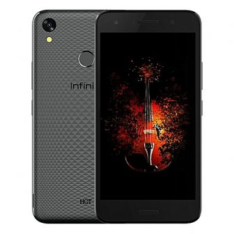 Hot 5 (X559c) 5.5-Inch HD (2GB, 16GB ROM) Android 7, 8MP + 5MP Dual SIM 3G Smartphone (Fingerprint) Sandstone Black