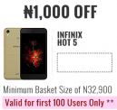 ₦1,000 OFF Infinix Hot 5