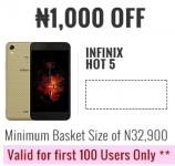 ₦1,000 OFF Infinix Hot 5