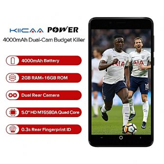 KIICAA POWER 5.0 Inch (2GB,16GB ROM) Android 7.0 Nougat, 8MP + 5MP Dual Camera + 5MP, Dual SIM 3G 4000mAh...